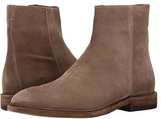 Frye Chris Inside Zip (Grey Oiled Suede) Men's Boots