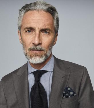 Reiss Roma - Regular Fit Flannel Melange Shirt in Soft Grey