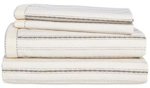 Lauren Ralph Lauren Taylor Cotton 200-Thread Count 4-Pc. Stripe Queen Sheet Set Bedding
