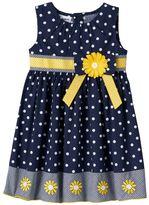 Toddler Girl Blueberi Boulevard Dot Sunflower Dress