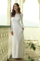 Shabby Apple Lush Ponte Maxi Dress White