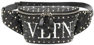 Valentino Rockstud Spike VLTN leather belt bag