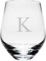 Lenox Tuscany Monogram Stemware, Set of 4 Block Letter Stemless White Wine Glasses