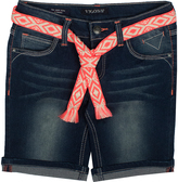 Vigoss Blueberry Cream Belted Bermuda Shorts - Girls