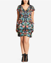 City Chic Trendy Plus Size Printed Sheath Dress