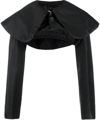 Comme des Garcons shoulder-cape cropped coat