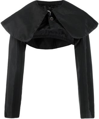 Comme des Garçons Comme des Garçons Shoulder-Cape Cropped Coat