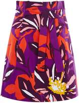 Karen Millen Floral Cotton Full Skirt