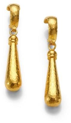 Gurhan 24K Yellow Gold Teardrop Earrings