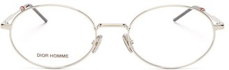 Christian Dior Dior237 Oval Metal Glasses - Mens - Silver