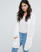 Only Pop Feather Open Cardigan