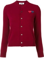 Comme des Garcons double heart cardigan - women - Wool - S