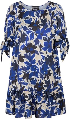 Boutique Moschino Floral-print satin mini dress