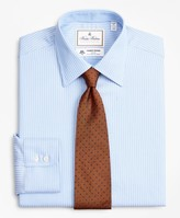 Brooks Brothers Luxury Collection Regent Fitted Dress Shirt, Franklin Spread Collar Ground Stripe