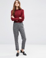 Asos Cigarette Pant In Texture with Belt