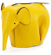 Loewe Elephant Leather Coin Case, Yellow