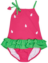 Florence Eiseman Skirted One-Piece Strawberry Swimsuit, Pink, Size 2T-6X