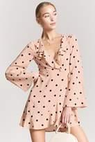 Forever 21 Polka Dot Ruffle Wrap Dress