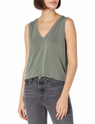 Lucky Brand Women's Sleeveless V-Neck Sandwash Tank Top