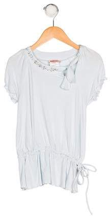 Catimini Girls' Knit Embellished Top