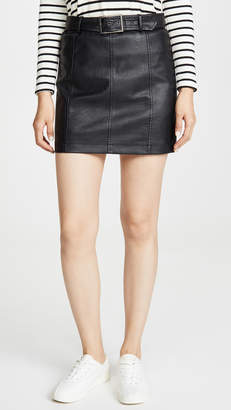 BB Dakota Jack By So Edgy Vegan Leather Skirt