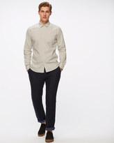 Horizontal Stripe Slim Shirt