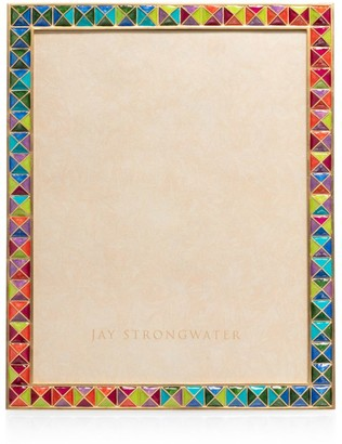 Jay Strongwater Vertex Pyramid Picture Frame