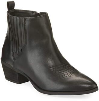 Sam Edelman Hartford Western Faux-Leather Booties