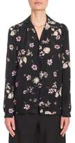 Valentino Flowers Fall Silk Blouse