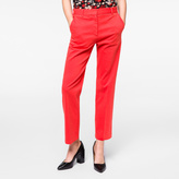 Paul Smith Women's Slim-Fit Washed Coral Stretch-Cotton Chinos