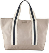 Heidi Klein Bahamas Large Canvas Beach Tote Bag, Neutral