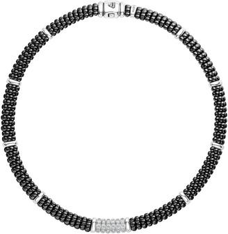 Lagos Black Caviar Diamond 6-Link Rope Necklace