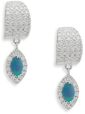 Meira T Diamond & Opal Drop Earrings