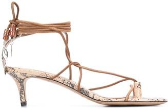 Isabel Marant Anira 50mm snake-print sandals