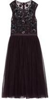 Needle & Thread Pleated Embellished Tulle Midi Dress