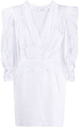 IRO Colm embroidered mini dress