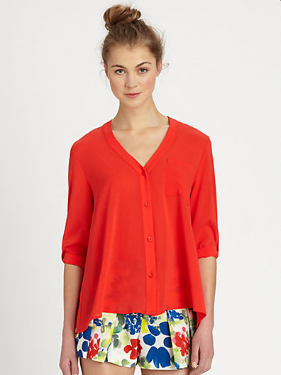 Alice + Olivia Colby Silk Shirt