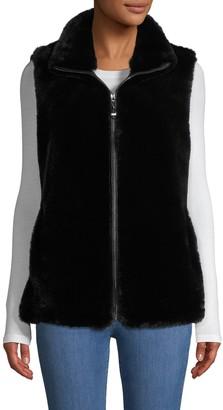 Belle Fare Striped Faux Fur Vest