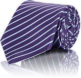Ermenegildo Zegna Men's Striped Necktie-PURPLE
