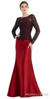 Morrell Maxie Long Sleeve Color Blocked Evening Dress