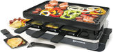 Swissmar 8-Person Classic Black Raclette Reversible Cast Iron Party Grill