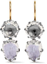 Larkspur & Hawk - Caterina Rhodium-dipped Quartz Earrings - Silver