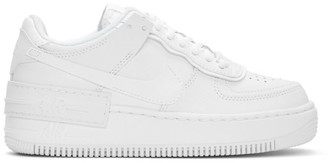 Nike White Shadow Air Force 1 Sneakers