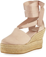 Tory Burch Elisa Satin Wedge Espadrille