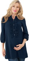 Sweet Mommy Ruffle Front Maternity and Nursing Tunic Tops