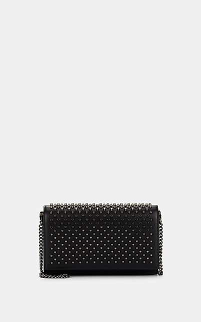 Christian Louboutin Women's Paloma Leather Chain Clutch - Black