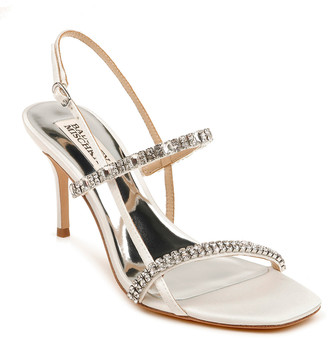 Badgley Mischka Zane Strappy Satin Sandals