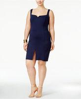 Love Squared Trendy Plus Size Front-Slit Bodycon Dress