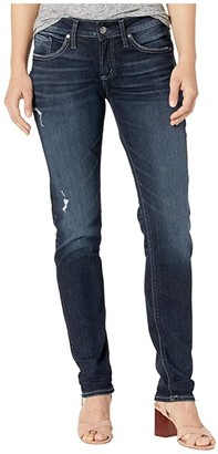 Silver Jeans Co. Avery High-Rise Curvy Fit Straight Leg Jeans L94443SSX396 (Indigo) Women's Jeans