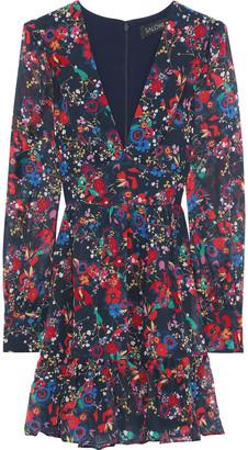 Saloni Pia Floral-print Silk-chiffon Mini Dress